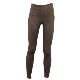 HIGH WAIST LEGGINGS IN BROWN SUEDE