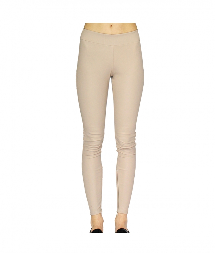 LOLA BEIGE LEATHER LEGGINGS four view