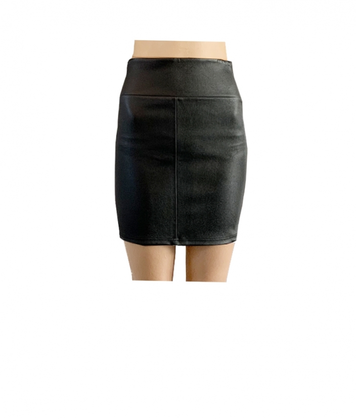 CHER MINI LEATHER SKIRT two view