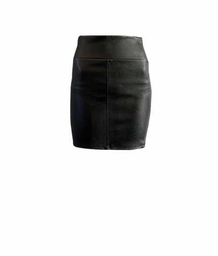CHER MINI LEATHER SKIRT one view