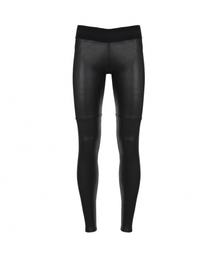 LEATHER PANT- L STRIPE BLACK one view