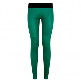 ELVIRA LEATHER PANT- GREEN