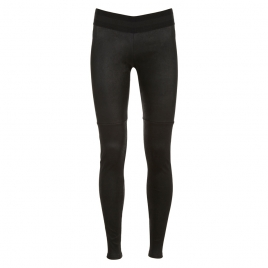 REAL SUEDE LEGGINGS - XS STRIPE BLACK