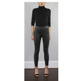 TINA HIGH WAIST LEATHER LEGGINGS  two view