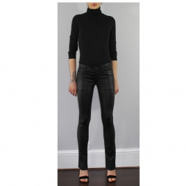 DONNA FLARED LEATHER PANTS two view