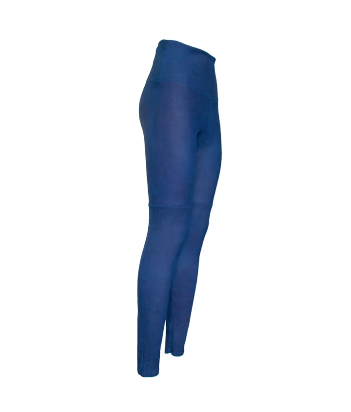 BLUE SUEDE LEGGING two view