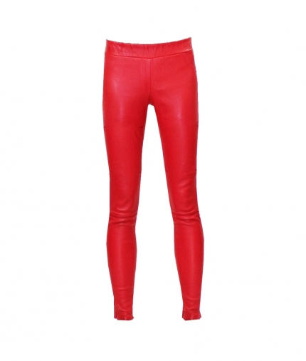 COVERED ELASTIC RED LEA LEGGING one view