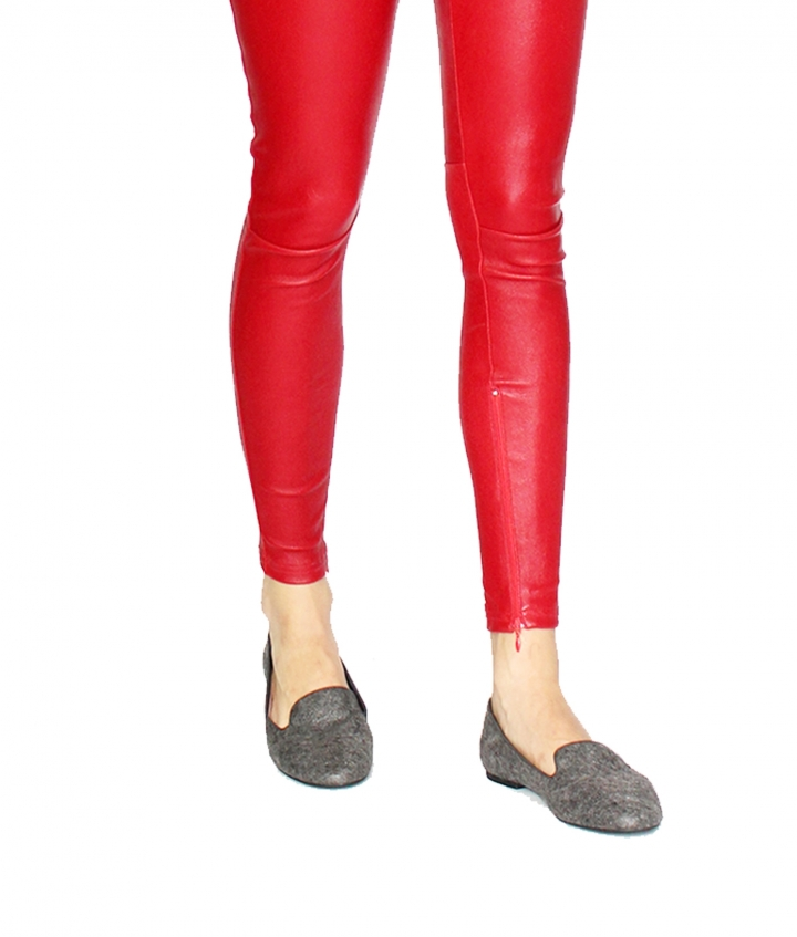 COVERED ELASTIC RED LEA LEGGING four view