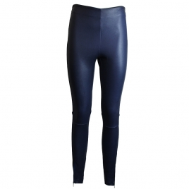 HALLE LEATHER LEGGINGS - NAVY BLUE