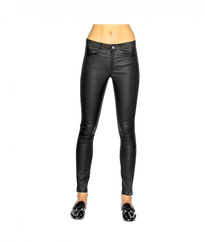 PARIS ENGINEER LEATHER PANT - BLACK five view