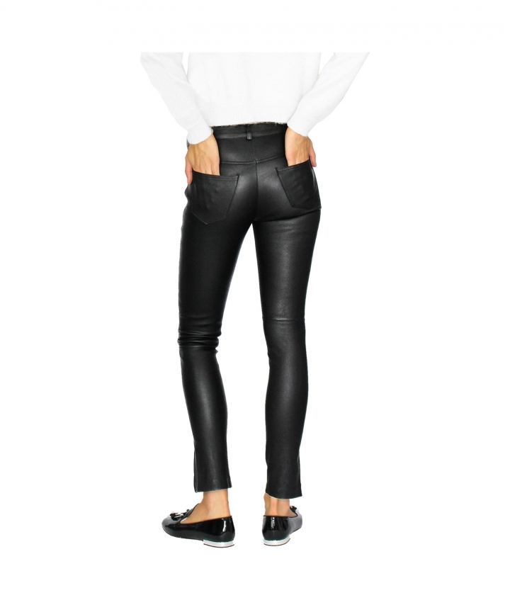 PARIS ENGINEER LEATHER PANT - BLACK eight view