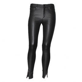 PARIS ENGINEER LEATHER PANT - BLACK