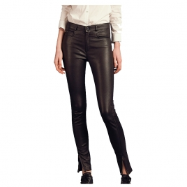 PARIS ENGINEER LEATHER PANT two view