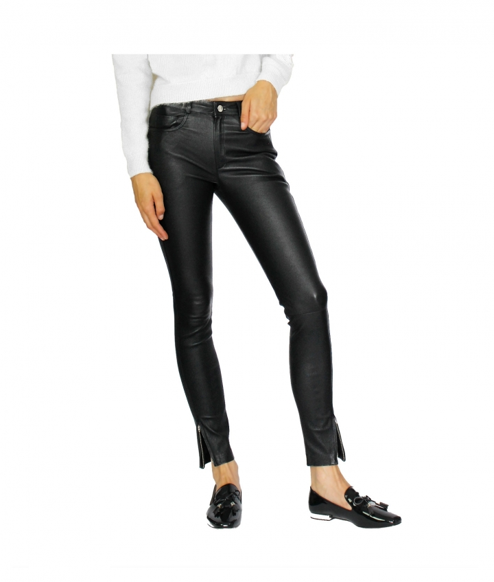 PARIS ENGINEER LEATHER PANT - BLACK seven view