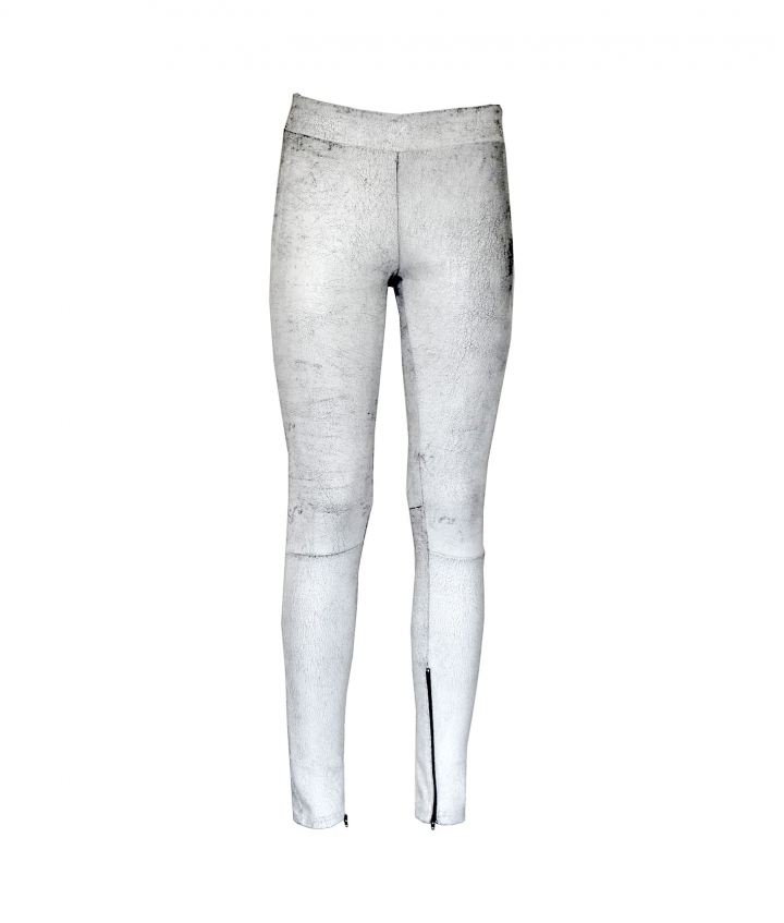 ELLY LEATHER LEGGINGS- B WHITE one view