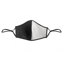 Leather Face Mask Black White