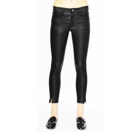 BETTY CROPPED LEATHER PANTS two view