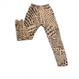 KIDS SUEDE LEGGINGS - LEO PINK