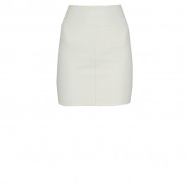 CHER WHITE LEATHER MINI SKIRT
