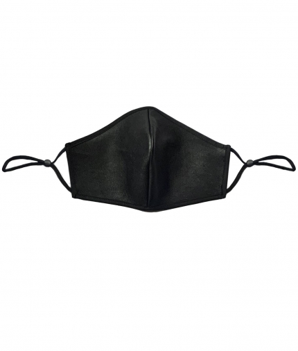 LEATHER FACE MASK- BLACK one view