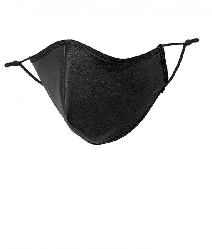 LEATHER FACE MASK- BLACK five view