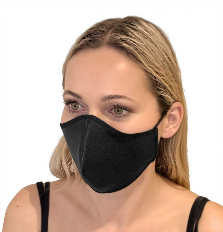 LEATHER FACE MASK- BLACK four view