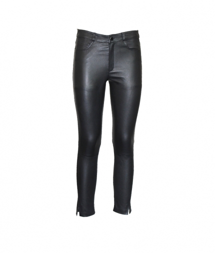 BETTY CROPPED LEATHER PANTS one view