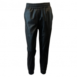 MILLY JOGGERS FAUX LEATHER - BLACK