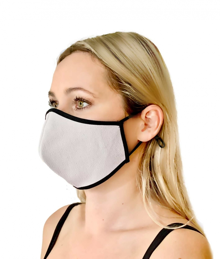Leather Face Mask White four view