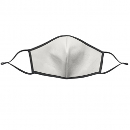 LEATHER FACE MASK-WHITE