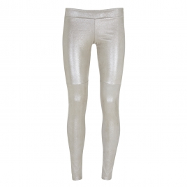 PATTY SUEDE LEGGING- METALLIC IVORY
