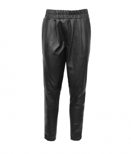 Leather Joggers one view