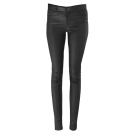 MID WAIST JEAN BLACK PREMIUM LEATHER