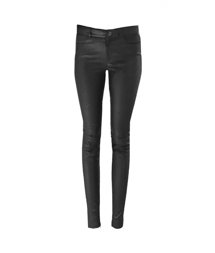 MID WAIST JEAN BLACK PREMIUM LEATHER one view