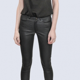MID WAIST JEAN BLACK PREMIUM LEATHER two view