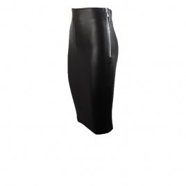 HIGHWAIST STRETCH LEATHER SKIRT two view