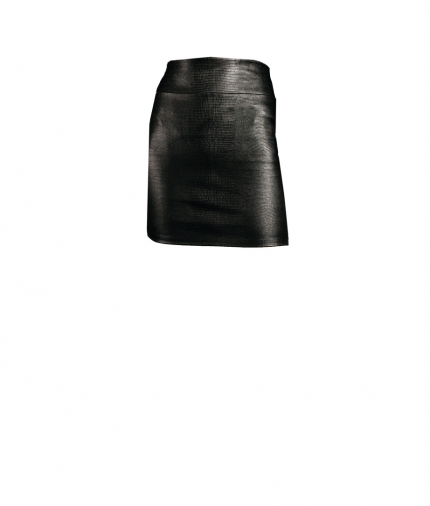 CHER MINI REPTILE PRINT LEATHER SKIRT one view