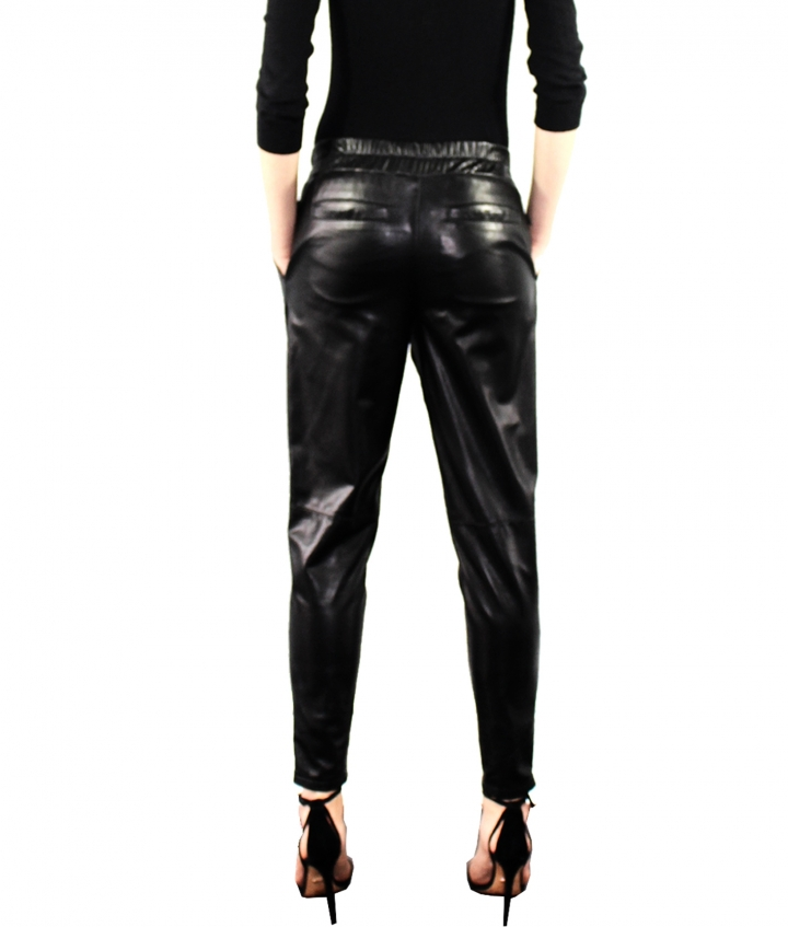 Leather Joggers five view