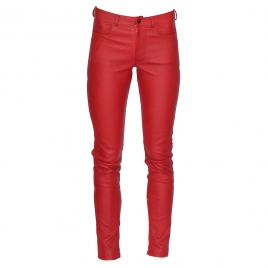 ZOE LEATHER PANT - RED