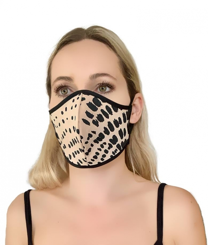 LEATHER MASK- LEO PINK three view