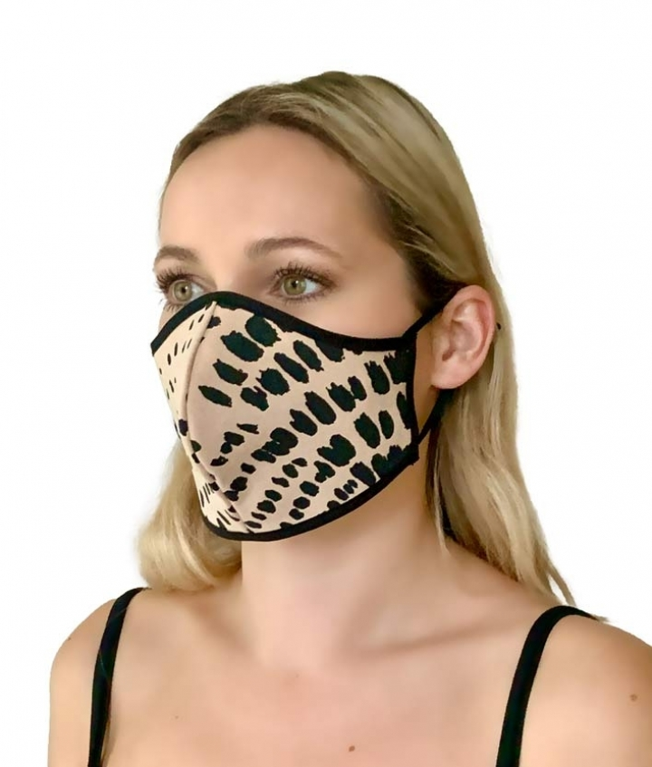 LEATHER MASK- LEO PINK two view