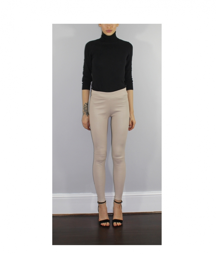 COVERED ELASTIC WAIST IVORY LEA two view
