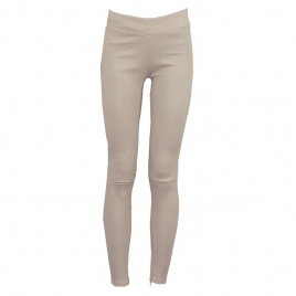 LOLA BEIGE LEATHER LEGGINGS