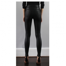 MIA HIGH WAIST LEATHER PANTS four view