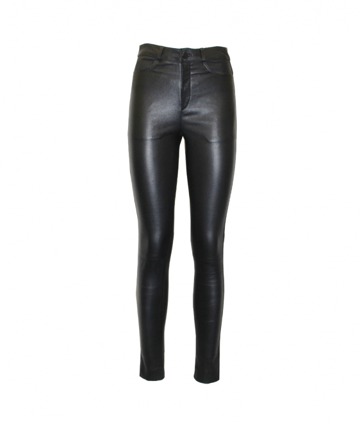 MIA HIGH WAIST LEATHER PANTS one view