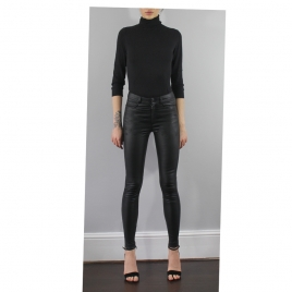MIA HIGH WAIST LEATHER PANTS two view
