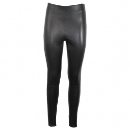 HALLE HIGH LEATHER LEGGINGS- BLACK