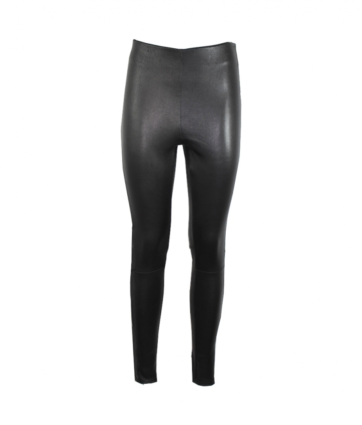 Halle High Waist Leather Leggings one view