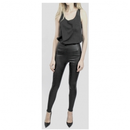 HIGH WAIST LEATHER LEGGINGS two view