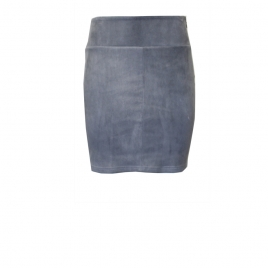 STRETCH SUEDE GREY SKIRT